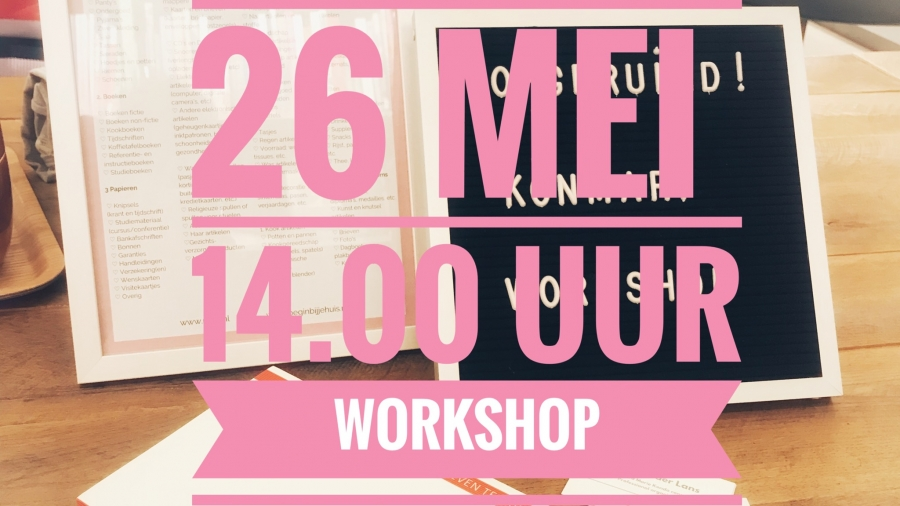 KonMari workshop 26 mei